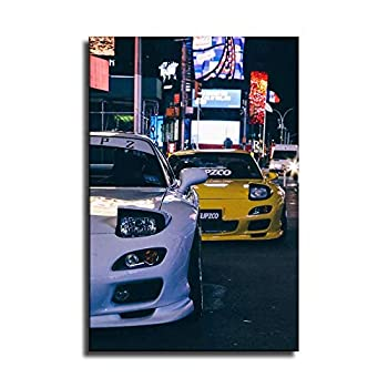 MAIDING Car Poster Japan JDM Style Canvas Art Poster and Wall Art Picture Print Abstract Pictures Paintings Modern Family Bedroom Decor Posters