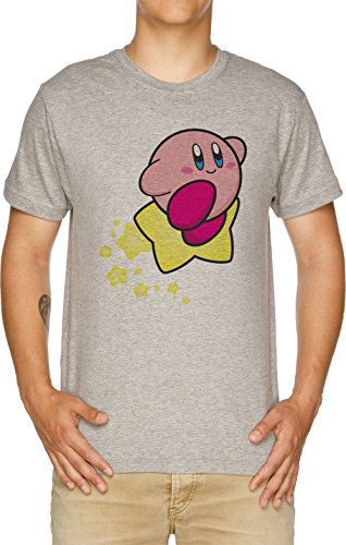 Reiten auf Kirby Herren T-Shirt Grau