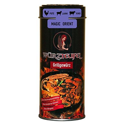 Magic Orient Grill – Gewürz, feinstes BBQ Gourmet Grillgewürz, Bratengewürz nach orientalischer Art. Dose 125g.