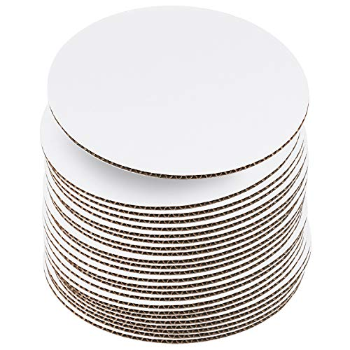 """10 Inch White Cake Boards [24 Pack] Cake Rounds, Disposable Cake Board, Cake Base Cardboard, 10"""" Cake Circles Plate or Stand"""
