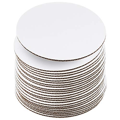 Tablas para tartas de 25,4 cm, color blanco [24 unidades] para tartas, cartón desechable, base de tartas, plato o soporte para tartas...