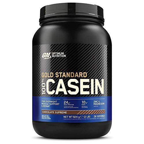 Optimum Nutrition 100% Gold Standard Casein, Proteine di Caseina a Lento Rilascio con Glutammina, Aminoacidi, Zinco e Magnesio, Supreme Cioccolato, 28 Porzioni, 0.92 kg, il Packaging Potrebbe Variare
