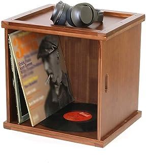 """DGHJK Caja de Almacenamiento LP para Discos de Vinilo de 12"""", almacena y Muestra hasta 80 álbumes - Marco Decorativo de Es..."""