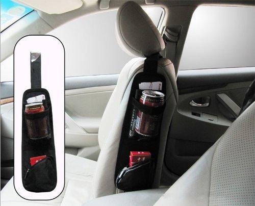 KINGZER Car Auto Seat Side Back Storage Pocket Backseat Organizer Bag Black