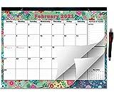2020-2021 Large Monthly Desk Pad Calendar Planner Academic, Floral Design with Magnets for Fridge, Desktop September 2020 to December 2021 Wall Calendar 17.3' x 13.2''