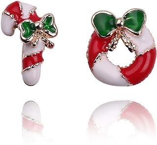NUOBESTY 6pcs Broche de Navidad Cristal mu/ñeco de Nieve Santa Bell Tree Pin de Solapa Mujeres Regalo de joyer/ía de Vacaciones