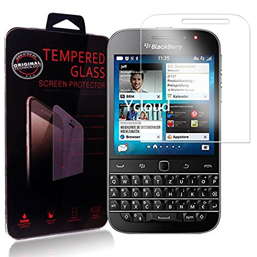 Ycloud Panzerglas Folie Schutzfolie Bildschirmschutzfolie für BlackBerry Classic Screen Protector mit Festigkeitgrad 9H, 0,26mm Ultra-Dünn, Abger&ete Kanten
