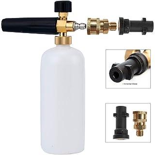 """Foam Cannon Lanza de Espuma Ajustable Dispensador de Jabón 1L Botellas con Karcher y 1/4"""" Rápido Conector Compatible con Karcher K2 K3 K4 K5 K6 K7 Pistola de lavado a presión (con cinta impermeable)"""