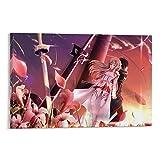 TOUKUI Póster decorativo de lienzo Full HD con diseño de Sword Art Online para salón, dormitorio, 30 x 45 cm