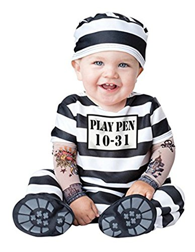 In Fashion Kids Baby-Infant-Toddler Boys and Girls Halloween Costumes (12-18 Months, Jailbird)