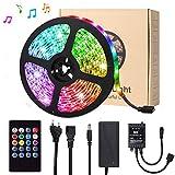 LED Streifen, Targherle 5M 150 LEDs Bänder Sync mit Musik, LED Lichtband RGB SMD 5050 IP65 Wasserdicht, LED Strips mit 20 Tasten IR Fernbedienung für Decke Bar Theke Schrank Beleuchtung Usw