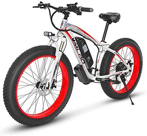 Bicicleta eléctrica de nieve, Eléctrica de bicicletas de montaña, 350W 26 '' grasa de neumáticos E-Bici con extraíble 48V 13Ah de iones de litio for los adultos, 21 velocidad Shifter Batería de litio