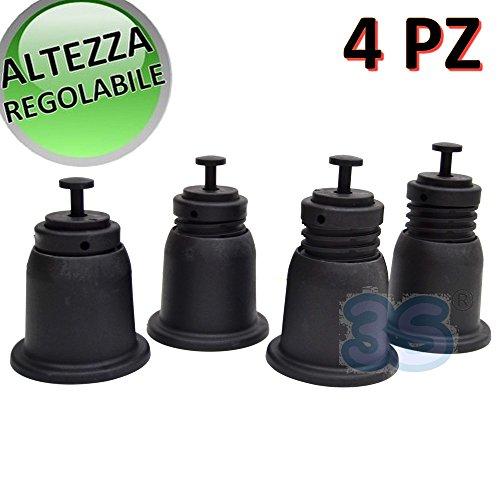 Confezione 4 supporti a pavimento regolabili in altezza per unità esterna climatizzatore