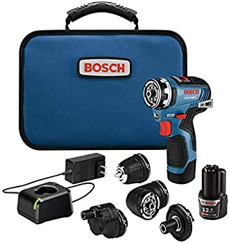 Bosch 12V Max EC Brushless Flexiclick 5-In-1 Drill System w/Batteries