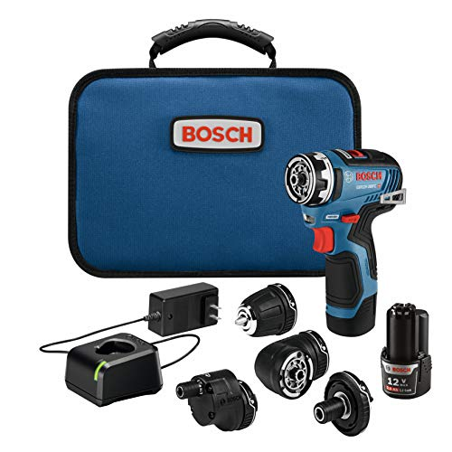 Bosch GSR12V-300FCB22 12V Max EC Brushless Flexiclick 5-In-1 Drill/Driver System with (2) 2.0 Ah Batteries - $149.00