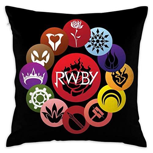 WO918 RWBY Crescent Sky Ruby Rose Logo Decorative Throw Pillow Covers Case Pillowcases Kissenbezüge (40cmx40cm)