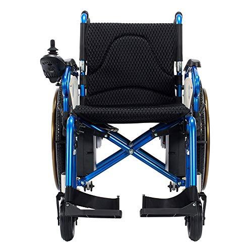 Rolstoel aluminiumlegering rolstoel, opvouwbare draagbare elektrische rolstoel, scooter, 360% rotatie, geschikt voor ouderen, gehandicapten, (106 × 67 × 93 cm) rolstoelen