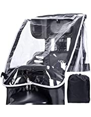 ELPIRKA 自転車 リアチャイルドシート カバー 専用バック付 (ブラック)
