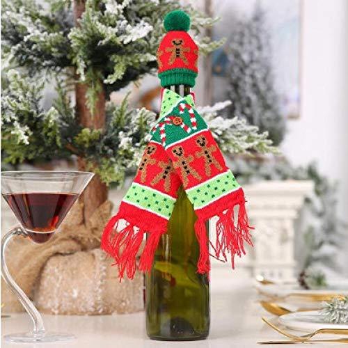 tytlsd Tapa Antipolvo De Botella De Vino De Papá Noel, Año Nuevo, Adornos Navideños para Adornos De Mesa para El Hogar A