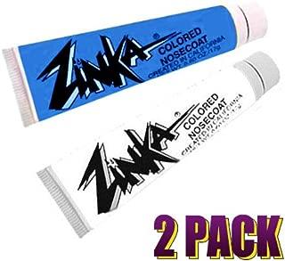 Zinka Colored Sunblock Zinc Waterproof Nosecoat 2 Pack Bundle - Blue White