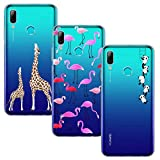 Yoowei [3-Pack] Huawei P Smart 2019 Case, Ultra Thin