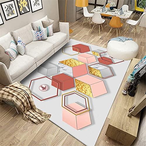 AU-SHTANG alfombras Baratas Cuerpo de lámpara Rosa, patrón Cuadrado Aislamiento de Sonido...