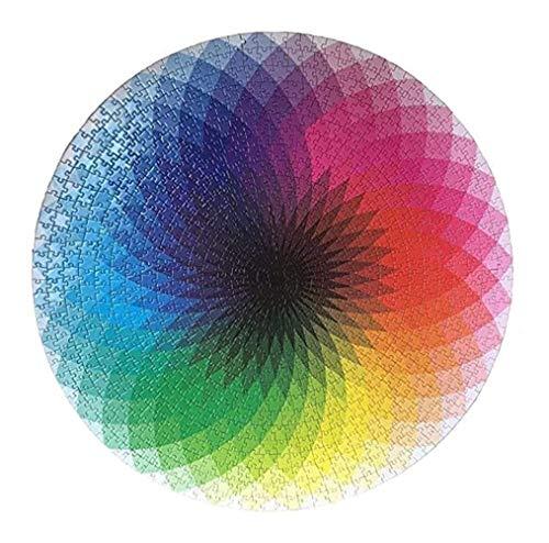 Puzzel for Volwassenen 1000 Stuks bloemen schilderen Multicolor Patroon Houten Puzzel for Grown Ups En Kids Funny educatieve Jigsaws Toys Decompression Game Brain Challenge