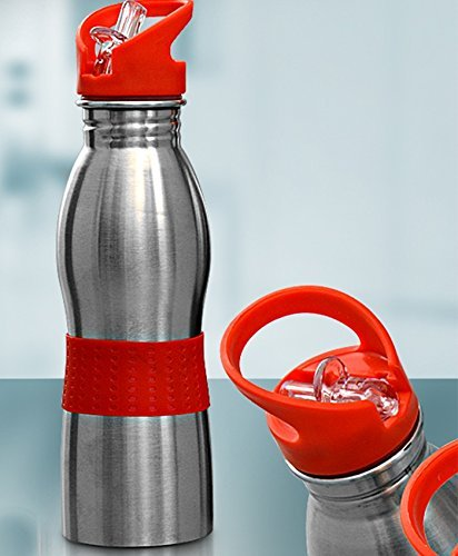 JMD DESIGN 650 ML Stainless Steel Water Bottle Sipper for School Or Sports - Assorted Colours for Kids,Teens,Travellers, Camping, Sports, Office Desk,School Kids Water Supply (Multi Color)