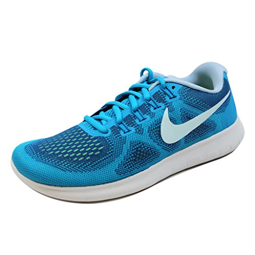 Nike Womens Free RN 2017 Running Trainers 880840 Sneakers Shoes (UK 4 US 6.5 EU 37.5, Gym Blue Glacier Blue 401)