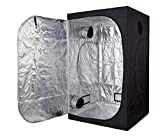 GreenHouser High Reflective Grow Tent 60''x60''x78'' Indoor Grow Room for Planting Fruit Flower Veg with Removable Water-Proof Floor Tray
