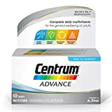 Centrum Advance Multivitamin & Mineral Tablets, 24 Essential Nutrients Including Vitamin D, Complete Multivitamin Tablets, 60 Tablets