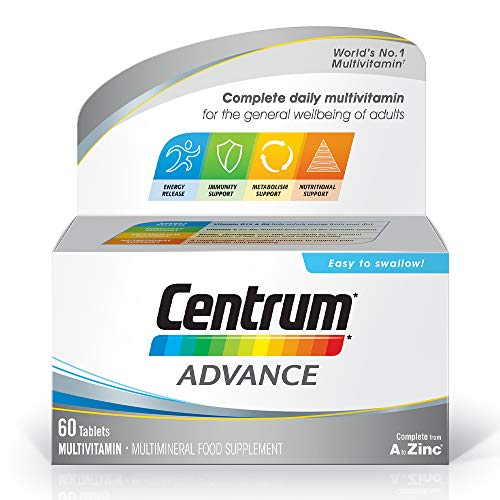 Centrum Advance Multivitamins & Minerals Tablet | 60 Tablets (2 Months Supply) | 24 Key nutrients Vitamins and Minerals for Men and Women | Vitamin D | A-Z multivitamins
