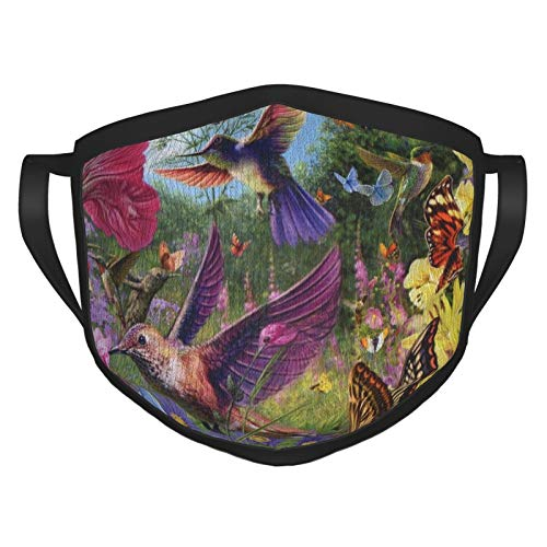 Hummingbird mask for Women Washable Black