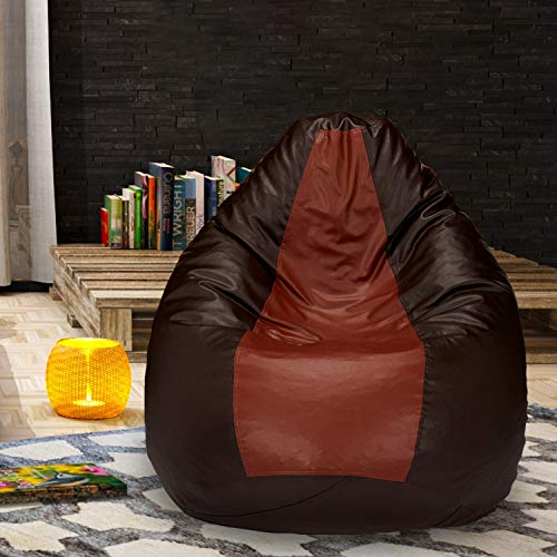 Gold Urban Style Decore Classic Bean Bag with Beans Filled (XXXL, Tan Brown)