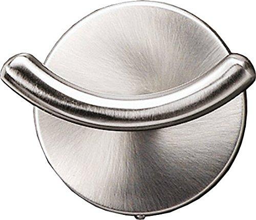 Fackelmann Doppelhaken FUSION, vernickelter Handtuchhalter, Kleiderhaken (Farbe: Silber), Menge: 1 Stück