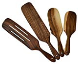 Ustensiles artisanaux Ensemble de 4 ustensiles de cuisine en bois Spatule en bois...