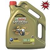 Castrol Vecton Aceite de motor de drenaje largo 10W-40 E6/E9 para camiones y autobuses, 15 litros