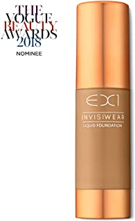 EX1 Cosmetics Invisiwear Liquid Full Coverage Foundation Makeup Shade 8.0 - Vegan, Oil and Fragrance Free, Dermatologically and Clinically Tested
