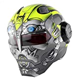 MTTK D. O. T Certificato Moto Iron Man Casco Integrale dei trasformatori Flip up Casco Moto d'Epoca Casco Integrato,G,M