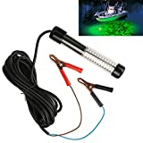 Goture 12V 10.8w 180 LEDs Submersible Fishing Light with 5m/12m Cord – Green