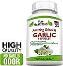 Amazing ODORLESS Garlic and Parsley Supplement Softgels for Men and Women. Equal to 500mg Fresh Garlic Bulbs. Best Garlic Pills. Allium Sativum. Made in USA #1