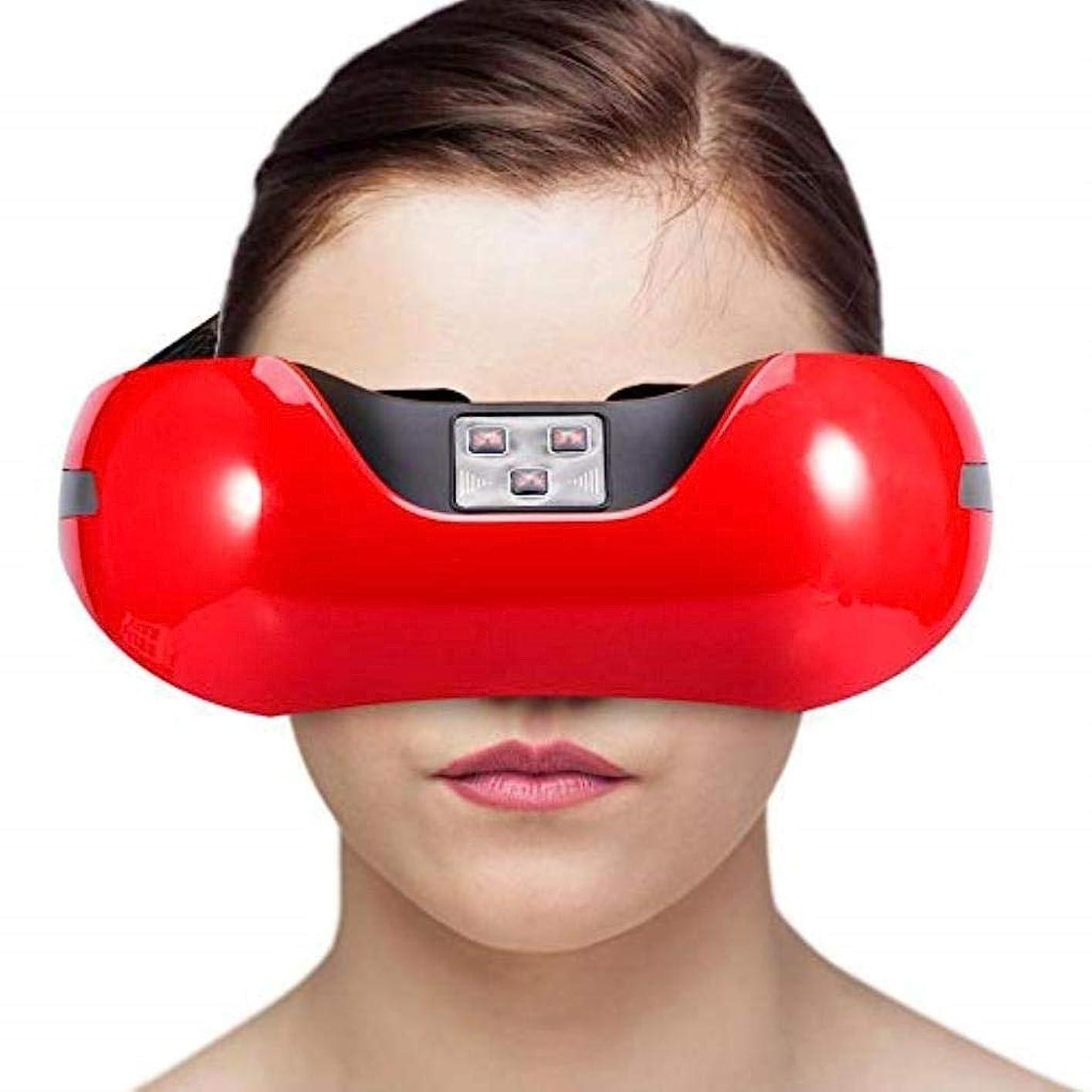 囲いストレスおもしろい近視の予防のための視力回復器具トレーニングアイマッサージ器具 (Color : Red)