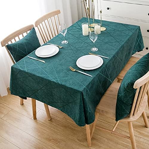 Mantel de Chenilla de Cocina para el hogar Mantel de Hotel súper Grueso Mantel de Lujo para Restaurante de Bodas Tela de Chenilla de 140x200cm