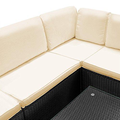 Deuba Poly Rattan Aluminium Lounge Set Schwarz Bild 3*