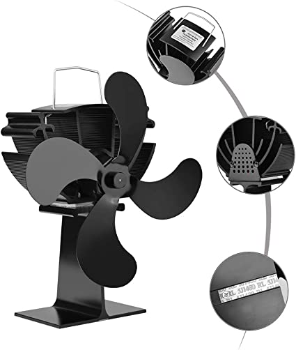 Alimentato 4 Lama Camino Fan di Calore Stufa A Legna Eco Fan YYBF Termocamino Ventilatore 5 Tipi,C Quiet Home Efficiente Distribuzione del Calore