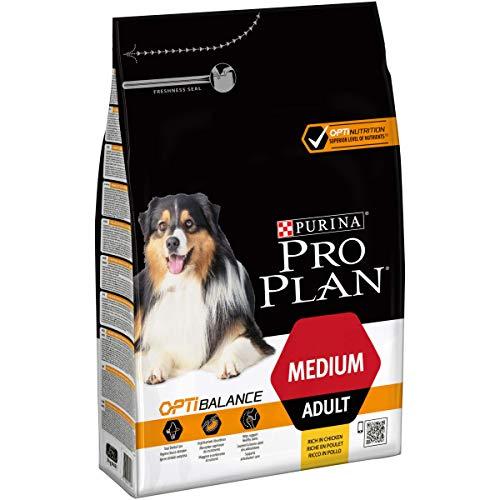 PURINA PRO PLAN Medium Adult Hundefutter trocken mit OPTIBALANCE, reich an Huhn, 1er Pack (1 x 3kg)