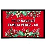 NANNUK - Felpudo Personalizado Goma Family Christmas