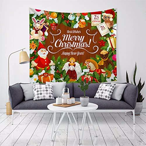 MMHJS European-Style Simple Christmas Christmas Tree Elk Hanging Cloth Decoration Tapestry Tapestry Beach Towel Tapestry Living Room Bedroom Party Printed Blanket