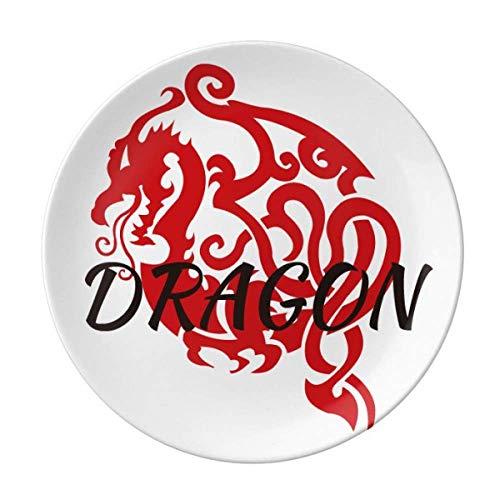 Animal Myth Dragon's Eastern Wings Western Wings Teller Deko Porzellan Salver Geschirr Dinner Dish
