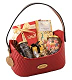 ZOROY LUXURY CHOCOLATE Valentines Day Red Colour of Love Hamper Basket of Assorted Goodies Love Gift - 250gms